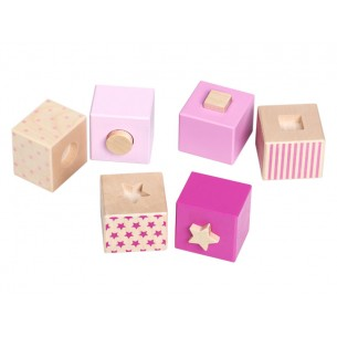 Wooden Pink Cubes  'Stacking Stars'