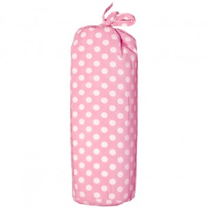 Single Bed Fitted Sheet Polka Dots in Pink & White