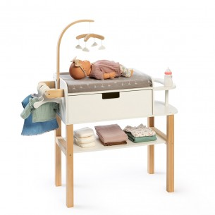 Doll Changing Table Viola in Natural/ White