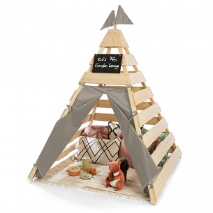 Outdoor Teepee 'Dreamer' in Natural/ Warm Grey