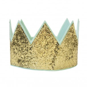 Glitter Crown in Gold