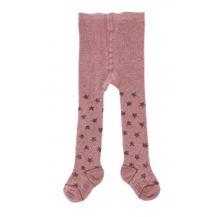 Baby Glittery Star Tights in Rose