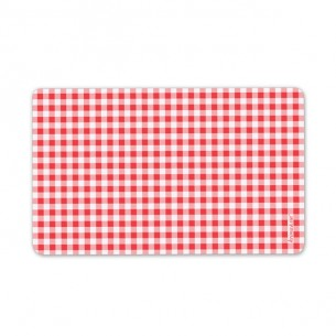 Breakfast Plate with Red Squares