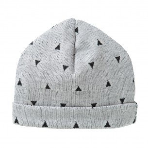 Light Grey Baby Hat with Triangles