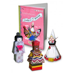 Happy Paper Toy Book 'Dolls of the World'