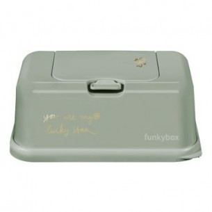 FunkyBox Wipe Dispenser Olive Green Clover