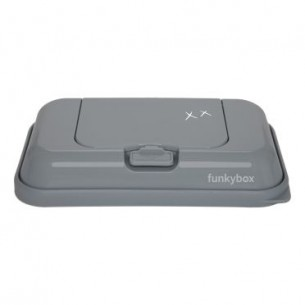 FunkyBox Wipe Dispenser To Go Dark Grey Kisses