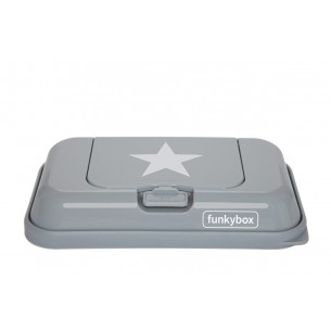 FunkyBox Wipe Dispenser To Go Grey Stars