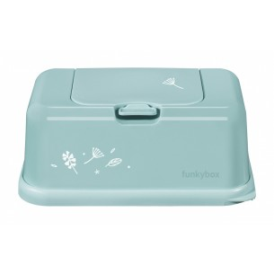 FunkyBox Wipe Dispenser Mint with Leaves