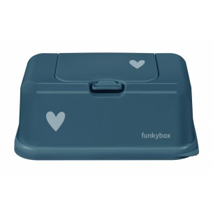 FunkyBox Wipe Dispenser Petrol with Heart