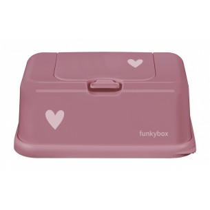 FunkyBox Wipe Dispenser Punch Pink with Heart