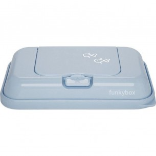 FunkyBox Wipe Dispenser To Go Vintage Blue with Fish