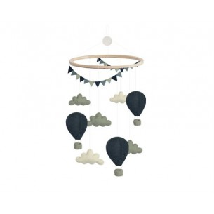 Airballoon Cloud Mobile in Blue