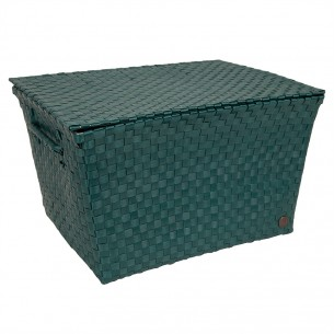 Super Big Ancona Basket in Blue Green