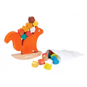 Wooden Balance Game Nutty Squirrel