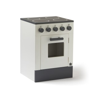 Wooden Bistro Kitchen Stove in White