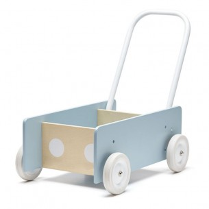 Wooden Baby Walker in Blue Grey