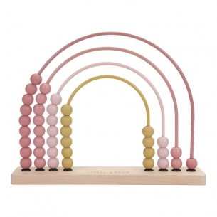 Rainbow Abacus in Pink