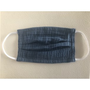 Muslin Mouth and Nose Mask for Children and Adults in Darkblue - Age 8+ Years