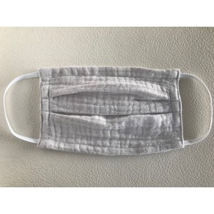 Muslin Mouth and Nose Mask for Children and Adults in Lightgrey - Age 8+ Years