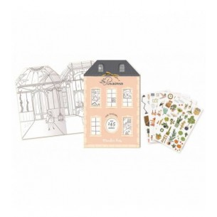 Colouring and Sticker Book 'Les Parisiennes'