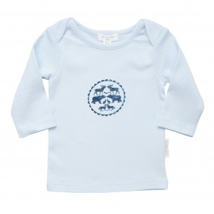 Boys Long Sleeve Top with Forest Print