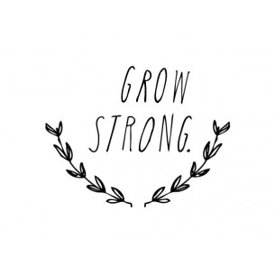 'Grow Strong' Wall Decal in Black