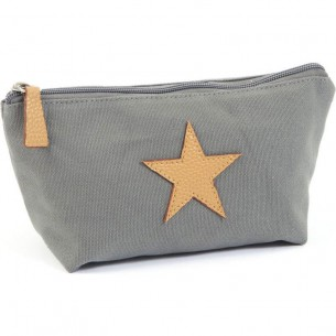 Small Star Toiletbag in Grey