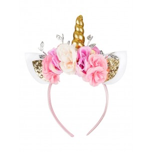 Unicorn Hairband with Flowers