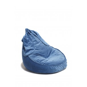 Velvet Bunny Bean Bag Royal Blue