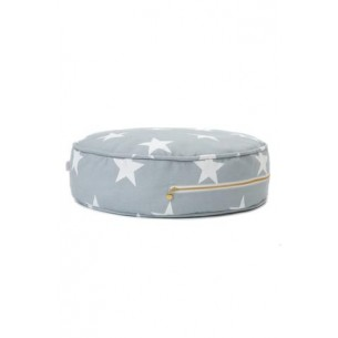 Round Floor Cushion with Large Stars