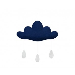 Cloud with Drops in Dark Blue