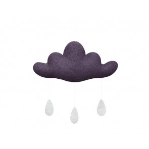 Cloud with Drops in Dark Purple