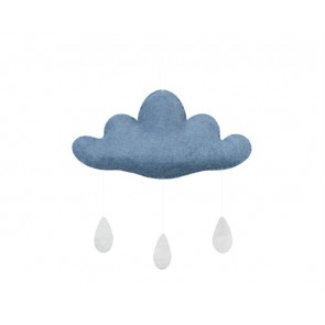 Cloud with Drops in Dusty Blue