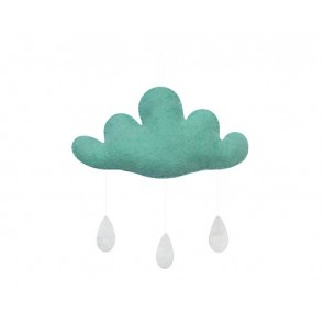 Cloud with Drops in Mint
