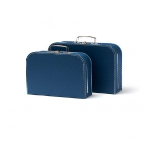Set of 2 Paper Suitcases in Dark Blue