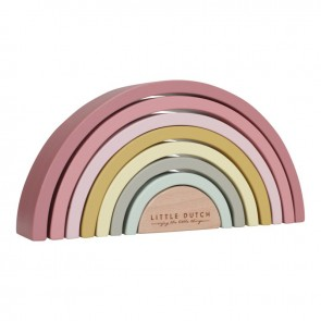 Wooden Rainbow in Pink