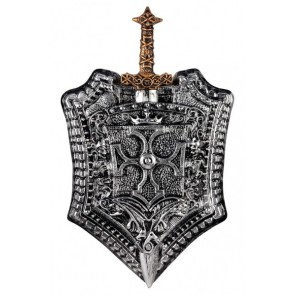 Knight Set Shield with Sword Milan