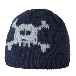 Cool Skull Beanie in Navy