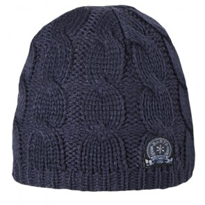 JP Cable Beanie in Navy