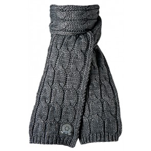 JP Cable Scarf in Dark Heather