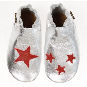 Boumy Baby Shoes Silver & Star