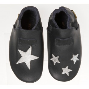 Boumy Baby Shoes Navy & Star