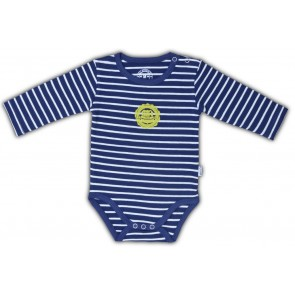 Navy & White Bodysuit with Stripes