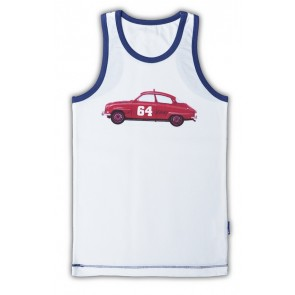 Sleeveless Vest with Car