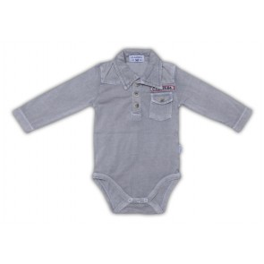 Super Soft Bodysuit in Light Grey