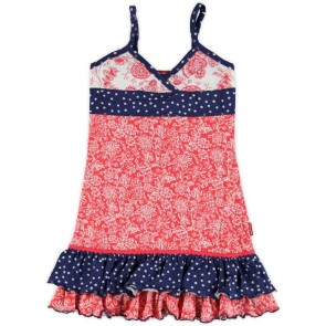 Girls Dress with Flowers and Dots
