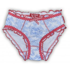 A Set of 2 Romantic Briefs with Flowers