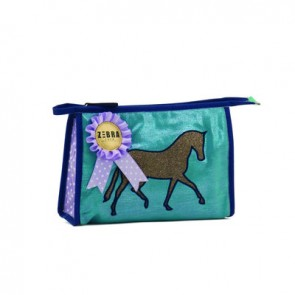 Blue Toilet Bag with Horse