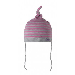 Moon Beanie in Heather Grey Pink